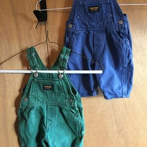 Other - Osh Kosh bib overalls. Snap bottom. Cute! 2 pairs